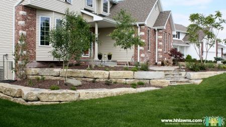 Natural Stone Retaining Walls Omaha